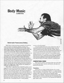 Body Music article