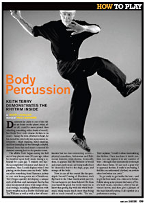 Keith Terry in DRUM! Magazine